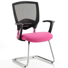 Alpha Task Leather Visitor Upholstered Pink Ergonomic  Office Chair
