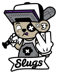 Slugs Slugger by Jason Arroyo , via Behance