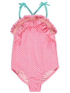 4258188e40 Heart Frill Swimsuit, read reviews and buy online at George at ASDA. Shop  from our latest range in Kids. They'll fall in love with this pretty  swimsuit.