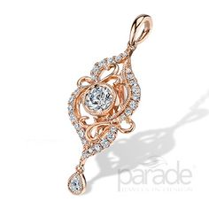 Fall into pure rose gold romance with this lovely LYRIA pendant sparkling with 0.64 carats of brilliant diamonds. Parade Design Style: P3279/R1