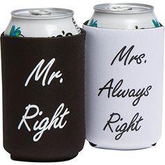 Hochzeit Geschenke oder Brautschmuck Dusche Geschenke oder Hochzeit Jahrestag Geschenke�-�Mr. und Mrs. Koozies Hochzeit Geschenk�-�Mr. Right und Mrs. always Right Funny Hochzeit Geschenke