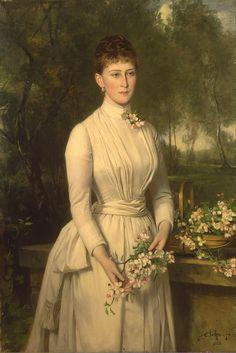 1885 Carl Rudolph Sohn - Portrait of Grand Duchess Elizaveta Fyodorovna