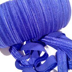 "Royal blue 5/8"" fold over elastic FOE"