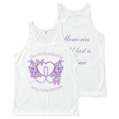 Alzheimers Awareness Purple Butterflies Unisex White Tank Top Alzheimers Awareness, Purple Butterfly, Printed Tank Tops, White Tank, Butterflies, Memories, Unisex, Friends, Amigos