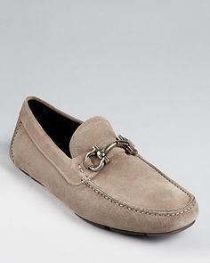 Salvatore Ferragamo Parigi Suede Driving Loafers | Bloomingdale's