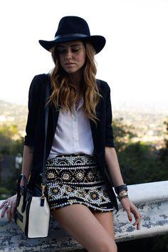 love the beaded skirt.