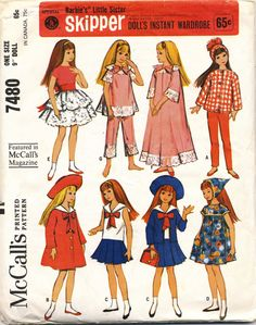 This is how I got my start in sewing and designing clothes! I had this pattern!