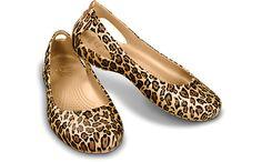 The most AMAZING shooes for teachers...ever!   Crocs™ Kadee Leopard Flat | Comfortable Women's Flats | Crocs Official Site