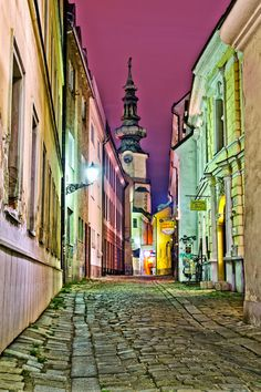 Bratislava – Quiet streets of the Old town Photo by Marek Sevc Destination: the World Bratislava, Big Country, Eurotrip, Old Town, All Over The World, The Good Place, Old Things, Tower, Street