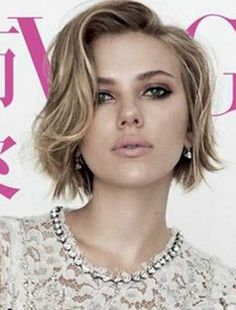 23 short wavy bob hairstyles - Short haircuts for square faces - Curly Hair Styles, Medium Hair Styles, Short Hair Cuts For Women, Short Hairstyles For Women, Celebrity Hairstyles, Square Face Hairstyles Short, Square Face Short Hair, Short Cuts, Natural Hairstyles