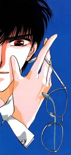 CLAMP, Tokyo BABYLON, Sakurazuka Seishirou, Blue, Glasses Off, Close Up