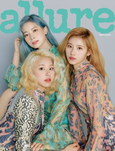 The members of TWICE dominated the cover of 'Allure' magazine. The girl group landed on the cover of the May issue. In time for the spring… Nayeon, K Pop, Kpop Girl Groups, Korean Girl Groups, Kpop Girls, V Magazine, Beauty Magazine, Magazine Covers, Vanity Fair