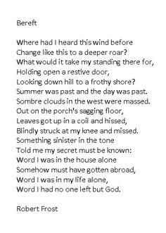 Bereft - Robert Frost