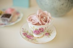Bea's Bridal photoshoot Southam  www.kayleighpope.co.uk  Engagement ring teacup