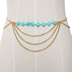 Yoins Body Chain with Turquoise Embellishment ($6.10) ❤ liked on Polyvore featuring jewelry, body jewelry, gold, turquoise jewelry, blue turquoise jewelry, pendant jewelry and body chain jewellery