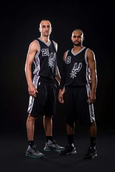 San Antonio Spurs 2015-2016 Manu Ginobili & Patty Mills