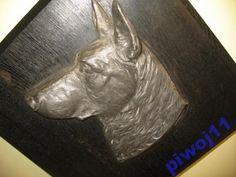OWCZAREK NIEMIECKI - RELIEF- CYNA SREBRZONA- SYGN. (5601881024) - Allegro.pl - Więcej niż aukcje. Carving, Wood Carvings, Sculpting, Cut Work, Sculpture