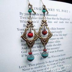 Earrings  Egyptian Earrings  Queen of the Nile by StudioRegency, $24.00