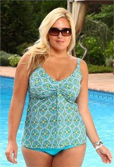 plus size swimwear | Womens Plus Size Swimwear - Always For Me Separates Icon Twist Tankini ...