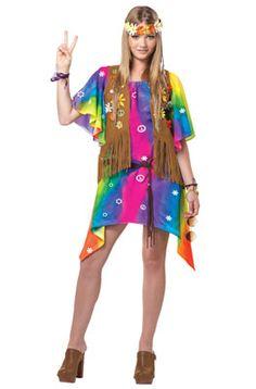 Teen Groovy Girl Hippie Costume - Hippie Costumes for Teenage Girls  sc 1 st  Pinterest & 5 Easy Halloween Costumes - Hippy | Halloween | Pinterest | Easy ...