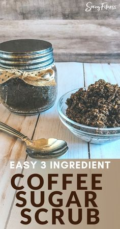 Coconut Oil Scrub, Coconut Oil Coffee, Diy Crafts And Hobbies, Homemade Bath Bombs, Sugar Scrub Recipe, Coffee Scrub, Healthy Living Tips, Recipe Of The Day, 3 Ingredients