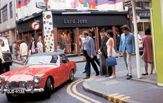 MG Midget on Carnaby St. London.