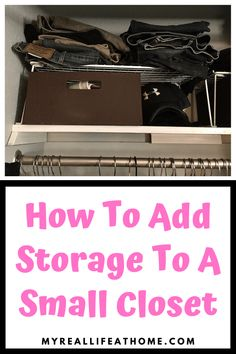 Check out these tips to maximize storage for your small closet. #smallcloset #diystorage #organization #bedroomstorage #closetstorage #closettips #closethacks #storagetips #homeorganization #organizing Small Closet Storage, Small Closet Space, Small Closet Organization, Small Closets, Organization Ideas, Small Spaces, Clothing Organization, Open Closets, Bedroom Organization
