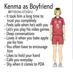 Yaaaassss he is so cuteee Haikyuu Karasuno, Kenma Kozume, Kuroken, Kagehina, Haikyuu Anime, Haikyuu Funny, Boyfriend Best Friend, Anime Boyfriend, Boyfriend Girlfriend