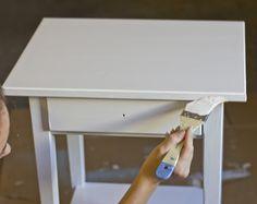 How to paint Ikea furniture. I have the exact same stand. Will definitely try this!