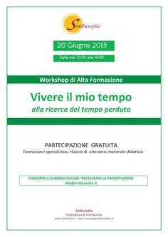 VIVERE IL MIO TEMPO workshop formativo gratuito
