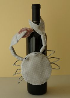 "Zodiac Sign Wine Bottle Cover - ""Cancer"""