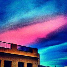 Atardecer en Chamberi  #chamberi #atardecer #cielo #puestadesol   ©Raquel Conde/Infinita/Infiniteando