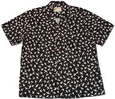 3595f223 Magnum Bamboo Men's Paradise Found Hawaiian shirt created in Black and Navy  Blue. The Magnum