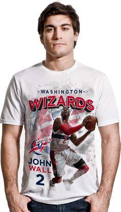 Levelwear Men's Washington Wizards John Wall Center Court White T-Shirt, Size: XXL, Team John Wall 2, Paul Millsap, Bradley Beal, Washington Wizards, Atlanta Hawks, Nba Players, Mens Tops, T Shirt, Shopping