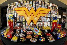 Wonder Woman Dessert Table