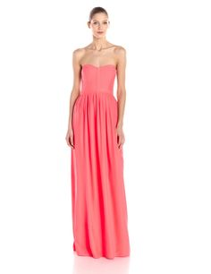 Bayou Silk Strapless Maxi Dress by Parker