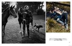 Wild Horses: Willy Cartier for DSection image Willy Cartier Horse Fashion Editorial 003