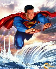 """DC Superman Wall Art """"Power Beyond Measure"""" by Greg Horn Lithograph on Fine Art Paper - The Incredible Art Gallery Superman Lois, Superman Family, Superman Man Of Steel, Batman And Superman, Superman Stuff, Superman Images, Superman Artwork, Spiderman, Clark Kent"""