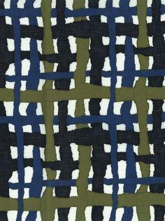 Tissus geometriques Tissu Outcross, Paola Navone (Dominique Kieffer) 3 | AD Magazine Graphic Patterns, Textile Patterns, Textile Prints, Textile Design, Color Patterns, Print Patterns, Surface Pattern Design, Pattern Art, Lucienne Day