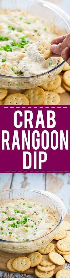 Crab Rangoon Dip Recipe - A simple version that's just like from your favorite Chinese restaurant, this easy Crab Rangoon Dip recipe is packed with flavor with a creamy cream cheese base. Serve with wonton chips or tortilla chips for an easy appetizer recipe!