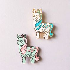 """♥ 1.4"""" tall♥ Hard enamel♥ 2 Pin Posts♥ Rubber Backings♥ Black Nickel variant ismint green with pink hair♥ Gold Metal variant is white with glitter hair All im"""