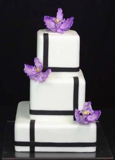 Purple Orchids - fondant covered