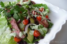 Chili Lime Steak Salad from Our Best Bites