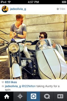 Draco Malfoy taking his Aunt, Bellatrix for a spin.