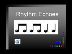 Excellent for gr. Rhythm Echoes video - allows your students to practice basic rhythms in a call & response format. Kindergarten Music, Teaching Music, Music Lesson Plans, Music Lessons, Piano Lessons, Music Worksheets, Primary Music, School Videos, Music Activities