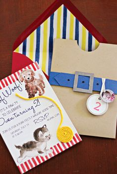 Playful Puppy and Kitten 2nd Birthday Party: The Cutest Invite