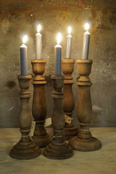 3 Candle Holders, Candles, Porta Velas, Candy, Candle Sticks, Candlesticks, Candle, Candle Stand