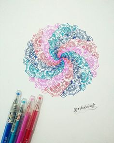 ❗Mandala Zone❗ (3/9) . . . #art #artwork #sketchbook #drawing #mandala #mandaladrawing #mandalalove #zentangle #colorful Mandala Art, Zentangle, Watercolor Tattoo, Drawing, Tattoos, Instagram Posts, Tatuajes, Zentangle Patterns, Zentangles