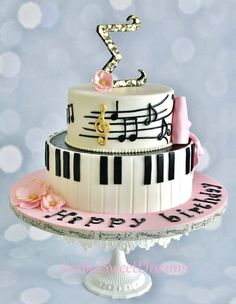 Great Image of Piano Birthday Cake - cake design - For Life Food Music Birthday Cakes, Music Themed Cakes, Music Cakes, Themed Birthday Cakes, Birthday Cake Design, Birthday Cake For Him, Birthday Signs, Happy Birthday, Pretty Cakes