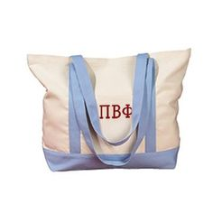 Canvas Sorority Tote Bag w/ Sewn-On Letters Sorority Canvas, Sorority Letters, Greek Shirts, Alpha Xi Delta, Sorority Outfits, Sorority Gifts, Custom Greek Apparel, Cloth Bags, Tote Handbags